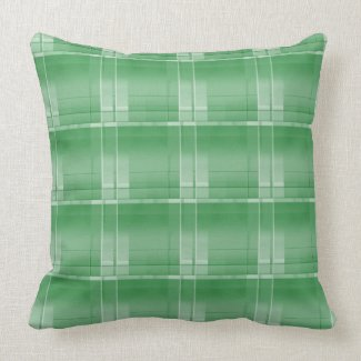 "Green Large Plaid Throw Pillow 20"" x 20"""
