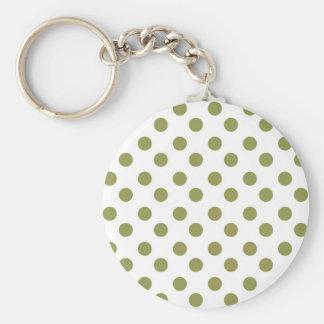 Green Large Polk-a-dots Key Chain
