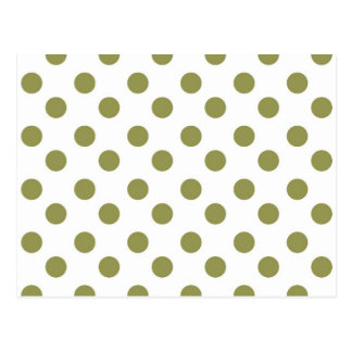 Green Large Polk-a-dots Postcard