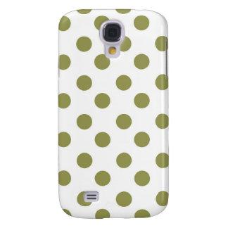 Green Large Polk-a-dots Samsung Galaxy S4 Cover