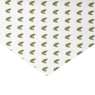 Green Largemouth Bass Fish | Any Color Background Tissue Paper