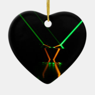 green laser beam reflection ceramic ornament