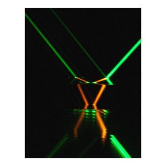 green laser beam reflection letterhead
