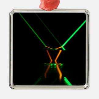 green laser beam reflection metal ornament