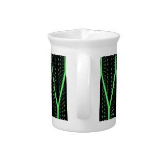 Green Laser Pattern Beverage Pitcher