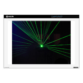 """Green Laser Show 17"""" Laptop Decal"""