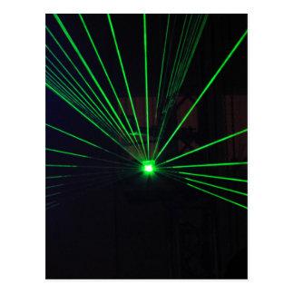 Green Laser Show Postcard