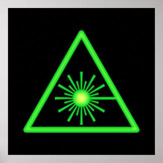 Green Laser Symbol Poster