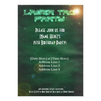 Green Laser Tag Invite