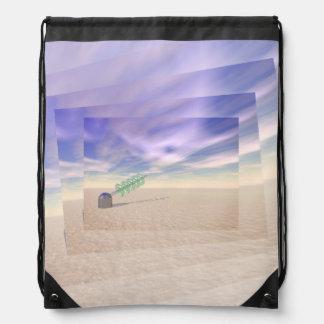 Green Laser Technology Drawstring Bag