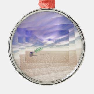 Green Laser Technology Metal Ornament