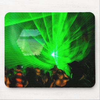 Green Lasers Night Mousepad