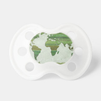 green Lat Stripes Map Pacifier