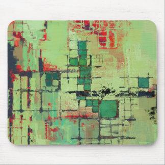 Green Lattice Abstract Art Mouse Pad