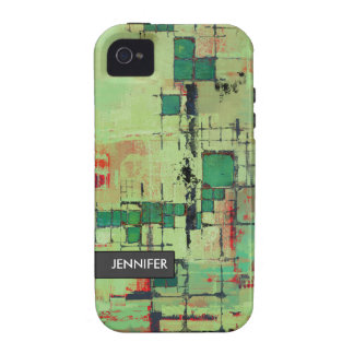 Green Lattice Abstract iPhone 4 Case-Mate Tough iPhone 4/4S Cover
