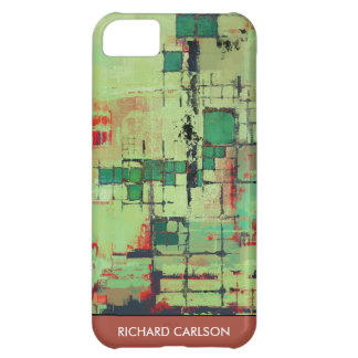 Green Lattice Abstract iPhone 5 Barely There Case Case For iPhone 5C