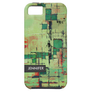 Green Lattice Abstract iPhone 5 Case-Mate Tough iPhone 5 Case