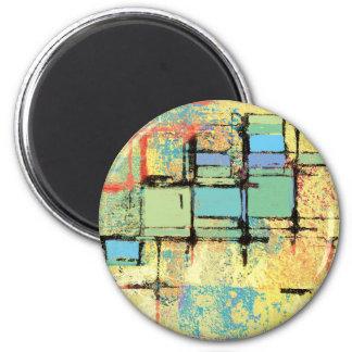 Green Lattice on Yellow Abstract Magnet