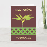 Green Lattice Special Occasion Card card
