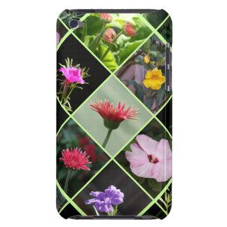 Green Latticework Garden Quilt of Flowers iPod Touch Cover