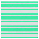 [ Thumbnail: Green & Lavender Colored Pattern Fabric ]