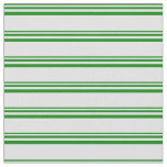 [ Thumbnail: Green & Lavender Lined/Striped Pattern Fabric ]