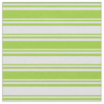 [ Thumbnail: Green & Lavender Lines Fabric ]