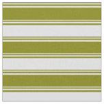 [ Thumbnail: Green & Lavender Lines Pattern Fabric ]
