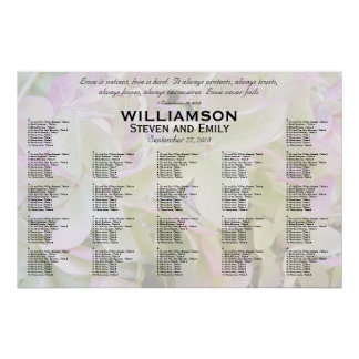 Green Lavender Love is Patient Seating Chart Poster