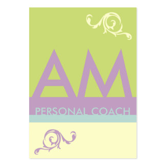Green Lavender Minimalistic Monogram Appointment Large Business Cards (Pack Of 100)