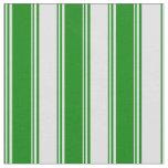 [ Thumbnail: Green & Lavender Stripes/Lines Pattern Fabric ]