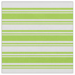 [ Thumbnail: Green & Lavender Stripes/Lines Pattern Fabric ]