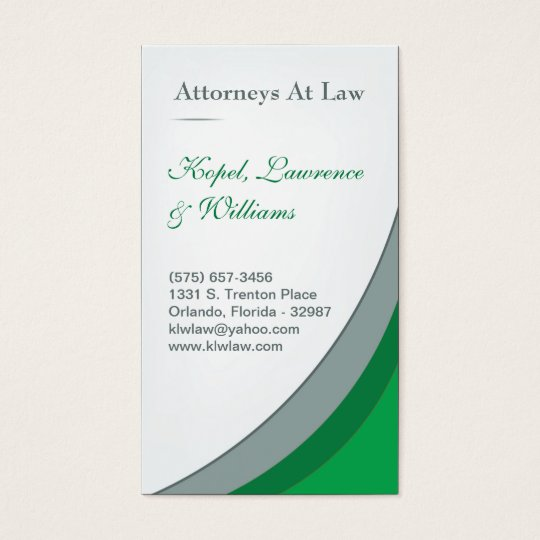 Green Law Firm Legal Corporate Business Card