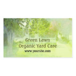 Green Lawn Organic Yard Care Business Card Pack Of Standard Business Cards