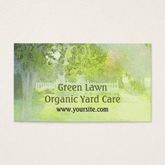Green Lawn Organic Yard Care Business Card