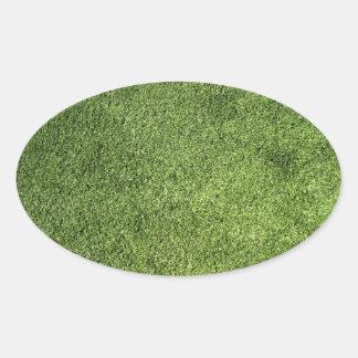 Green Lawn Oval Sticker
