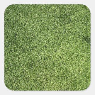 Green Lawn Square Sticker