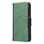 Green layer with style stock market of estopa or samsung galaxy s6 wallet case