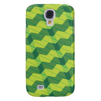 Green Layered Zigag Galaxy S4 Cover