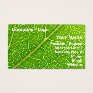 Green Leaf 2 Business Card