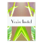"""Green Leaf Abstract. 5"""" X 7"""" Invitation Card"""