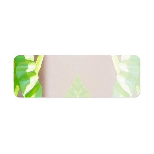 Green Leaf Abstract. Custom Return Address Label