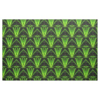 Green Leaf Abstract Fabric