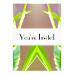 Green Leaf Abstract. Invitations