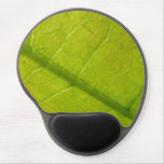 Green Leaf Abstract Nature Photography Gel Mouse Pad