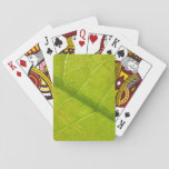 Green Leaf Abstract Nature Photography Playing Cards