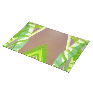 Green Leaf Abstract. Place Mat