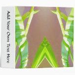 Green Leaf Abstract. Vinyl Binders
