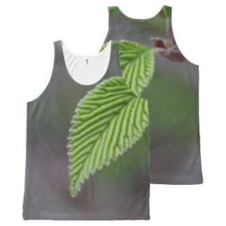 Green Leaf All-Over-Print Tank Top