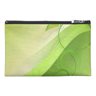 Green Leaf Background Accessories Bag